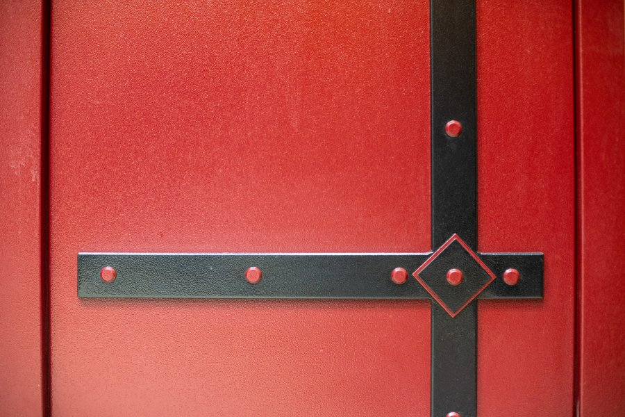 Двери с полимерным покрытием и накладками