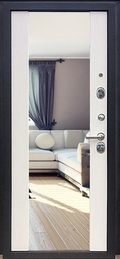Двери  с  накладками МДФ с зеркалом