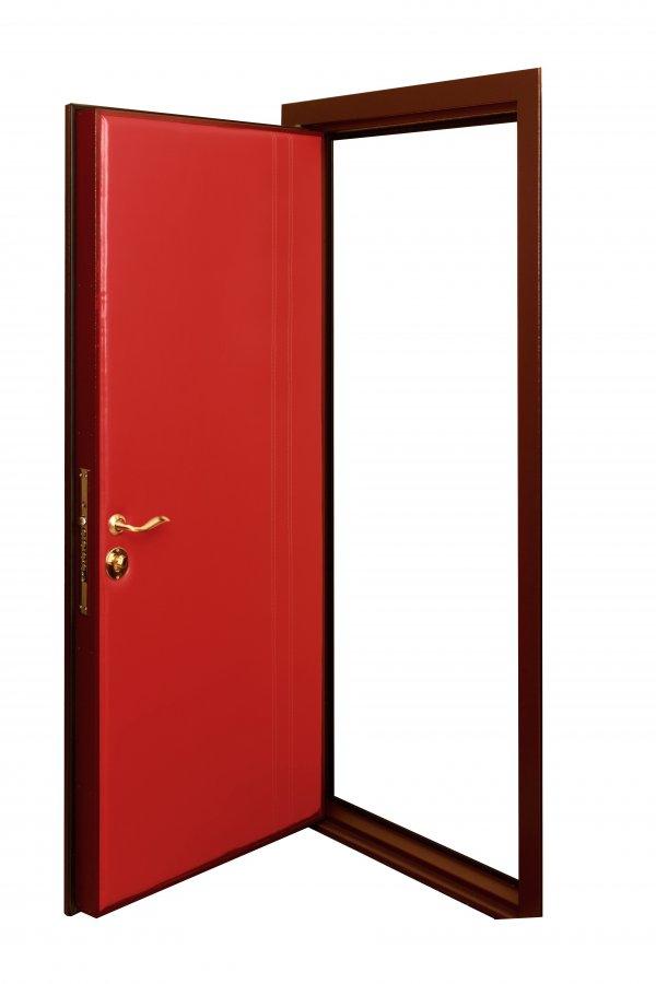 Двери с накаткой из мебельной кожи